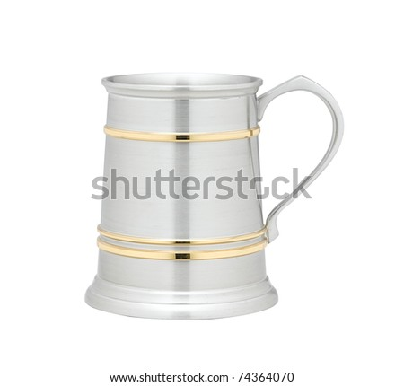 A beer mug made of pewter nice for serving beer