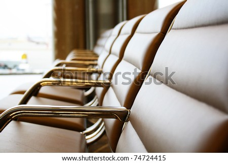 A bench on a white background optional - stock photo