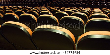 A big auditorium with all the seats free - stock photo