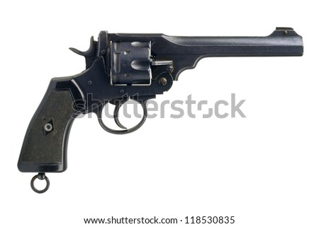 "A big British military revolver, in calibre .455"", from 1915. - stock photo"
