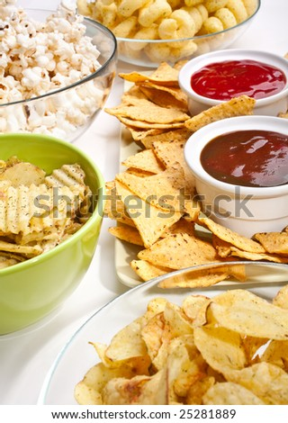 a big group of snacks - stock photo