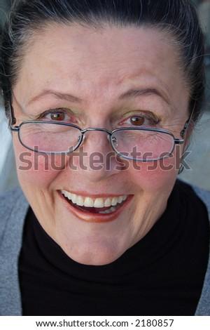 A big, happy smile!!! - stock photo