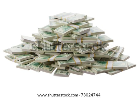 a big pile of money - stock photo