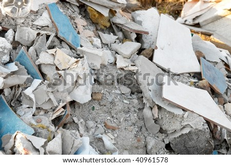 A big pile of trash - stock photo