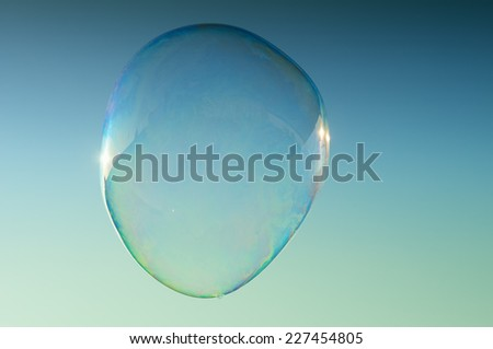 A big soap bubble - stock photo