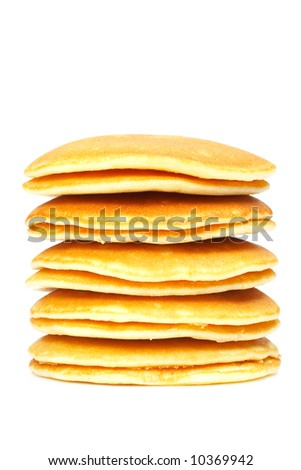 A big stack of pancakes. Shallow depth of field - stock photo