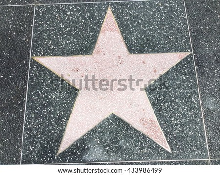 A big star on the ground
