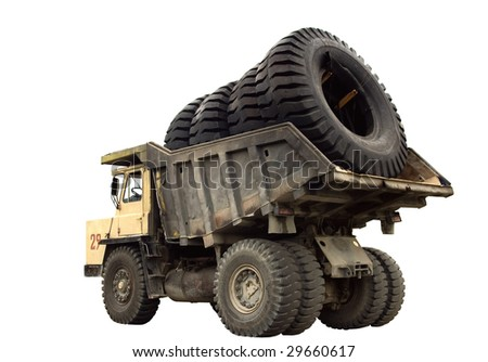 Big truck very big wheels body stock photo safe to use 29660617 a big truck with very big wheels in the body isolated publicscrutiny Images