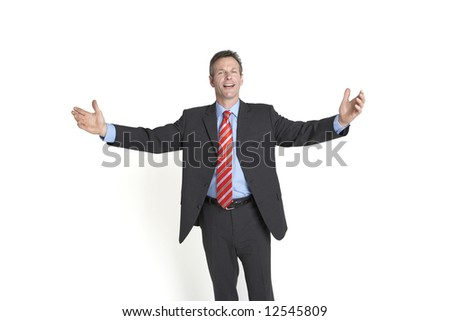 A big welcome ! - stock photo
