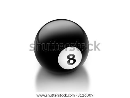 a billard 8-Ball - stock photo