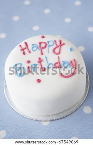 A birthday cake - stock photo