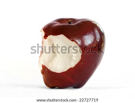 A bitten apple - stock photo