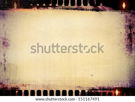 A black and white filmstrip background - stock photo