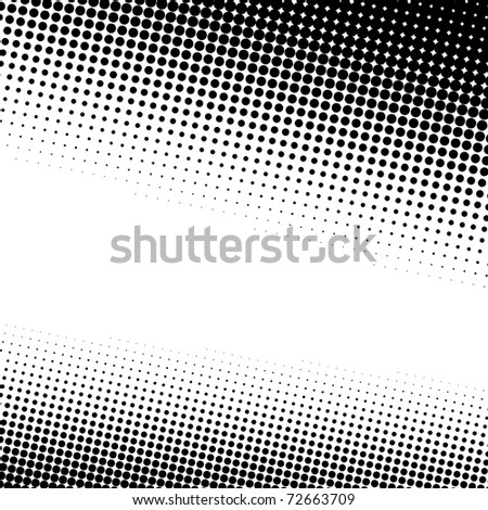 A black and white halftone background with plenty of copy space. - stock photo