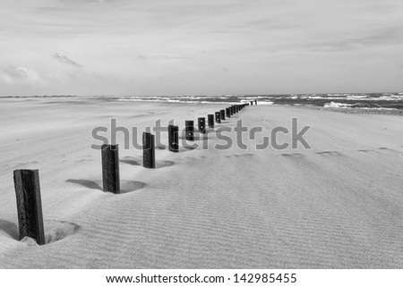 A black and white sandstorm in Provence - France - stock photo