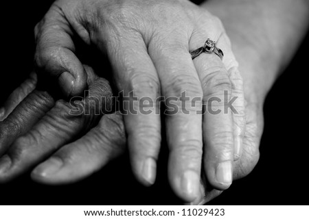 Pregnant Belly Biracial Couples Hands Stock Photo 30953401 ...