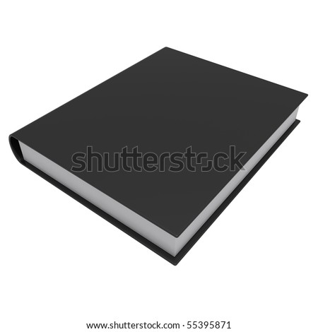 a black book isolated on white