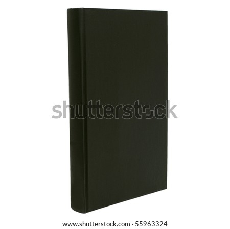 a black book isolated white