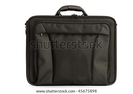 A black briefcase isolated on white