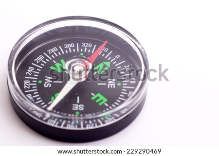 A black Compass isolate on white background - stock photo