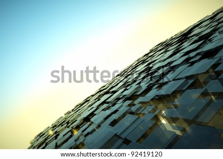 a black cubes abstract background - stock photo