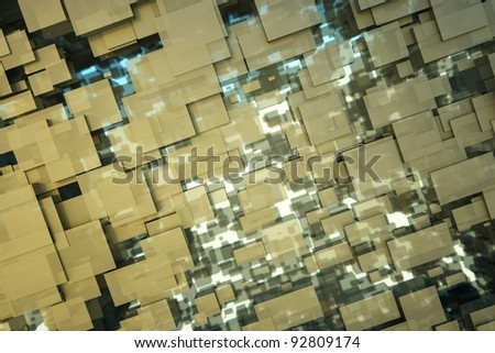 a black cubes abstract background