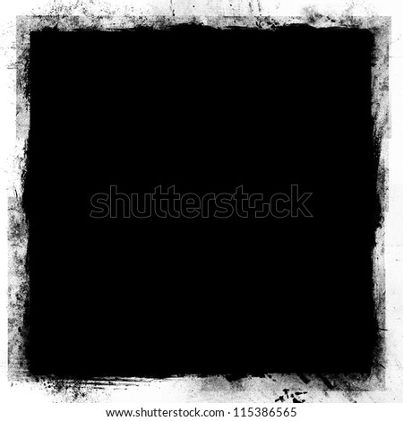 A black grunge background - stock photo
