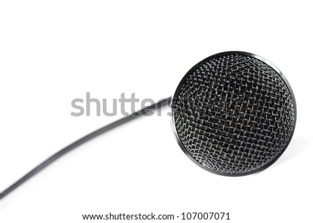 a black microphone, for use to sing