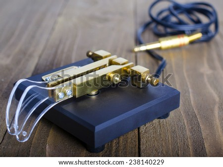 A black morse code squeeze key - stock photo