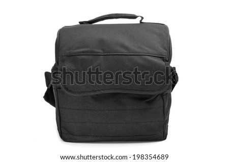 a black multipurpose bag on a white background