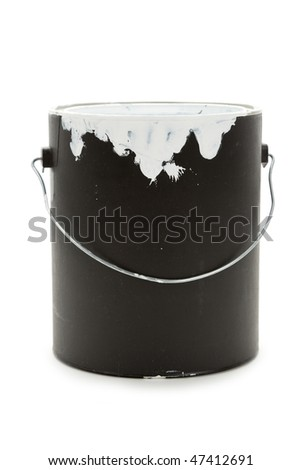 a Black Paint Can close up