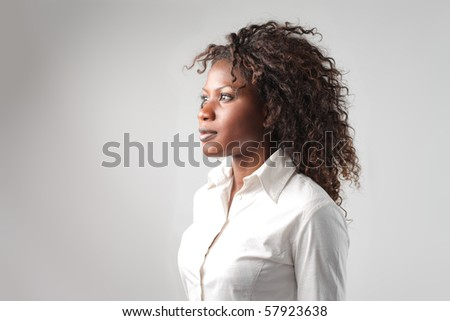A black woman profile - stock photo
