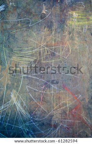 A blackboard with many colored lines on it - stock photo
