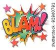 A Blam Comic Book Illustration - stock photo