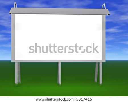 A blank billboard ready for you to insert your text - stock photo