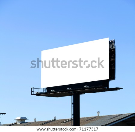 A Blank Billboard with a blue sky