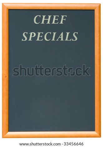 A Blank Blackboard Menu for a Restaurant
