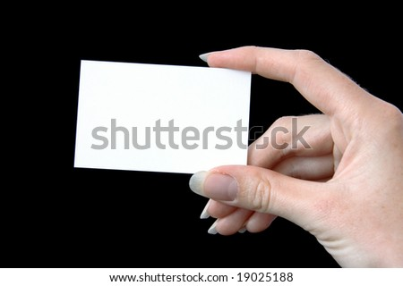 A blank business card, ready for your message