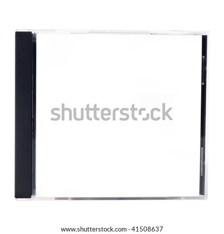 A blank CD case on a white background - stock photo