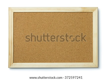 A blank cork notice board with frame - stock photo