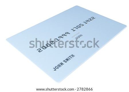A blank credit card isolated on white. You can add your text or graphics