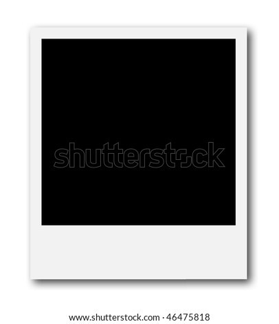 A blank frame ready to insert a photo or to create a photo collage. - stock photo