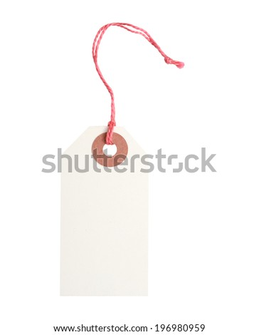 A blank gift tag - stock photo