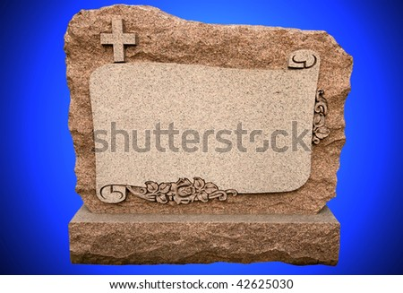 A blank headstone for your text - stock photo