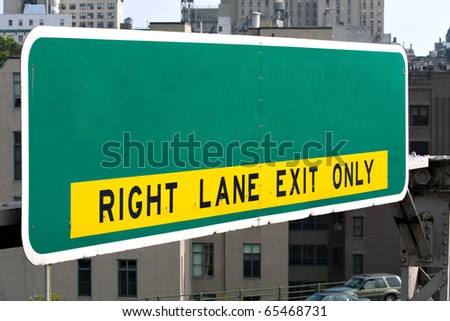 A blank highway sign you can customize with your own text or message.  Works great for conceptual themes. - stock photo