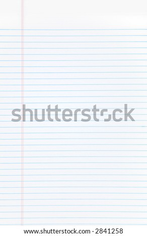 A blank open notebook with blue lines