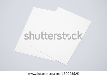 A4 Blank paper stack isolated - stock photo