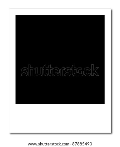 A blank photo frame ready to insert photos - stock photo