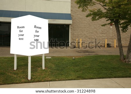 a blank real estate sign  with room for your text or images - stock photo