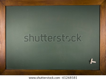 A blank school chalkboard. With copy space for your text or desing - stock photo